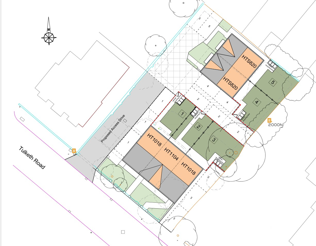 Site plan of proposed development